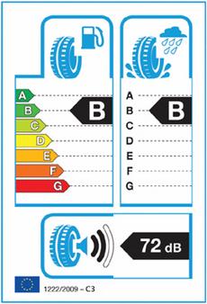 EU har bestemt at fra 1.november 2012 skal dette merket være påført alle nye dekk, bortsett fra piggdekk og regummierte dekk. Merket informerer deg om rullemotstand, våtgrep og støyegenskaper, og hjelper deg til å ta gode, selvstendige miljøvalg når du kjøper nye dekk.