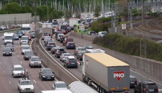 Trafikk på Drammensveien